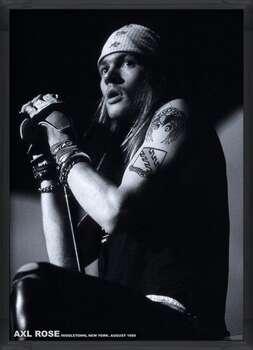 Framed Poster Guns N Roses (Axl Rose) - Middletown, New York, August 1988