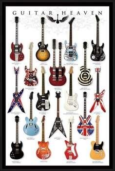 Framed Poster Guitar heaven
