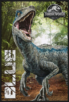 Framed Poster Jurassic World Fallen Kingdom - Blue