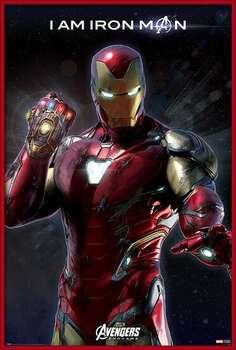 Framed Poster Avengers Endgame - I Am Iron Man