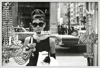 Framed Poster Audrey Hepburn - window
