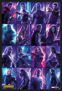Framed Poster Avengers: Infinity War - Heroes