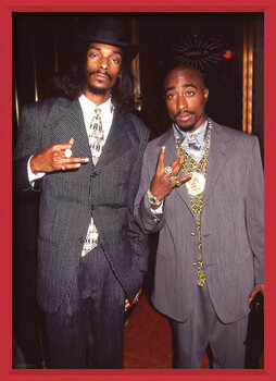 Framed Poster Snoop Dogg & Tupac - Suits