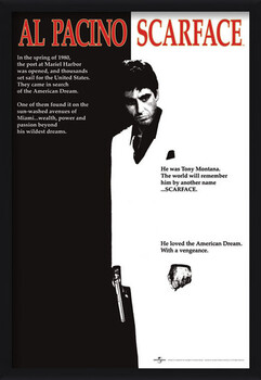 Framed Poster Scarface - movie