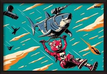 Framed Poster Fortnite - Laser Shark