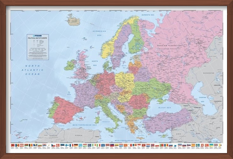 Map of Europe - Political Poster