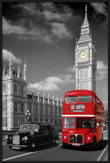 London - piccadilly bus Poster