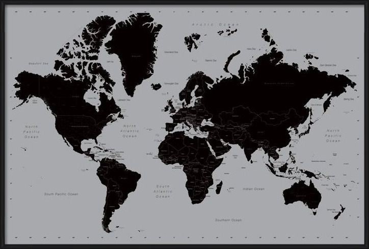 World Map - Contemporary Poster