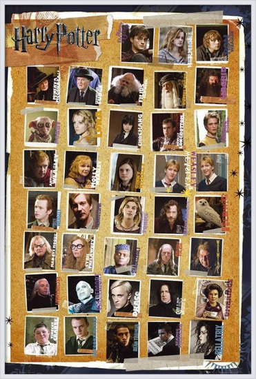 HARRY POTTER 7 - characters Poster