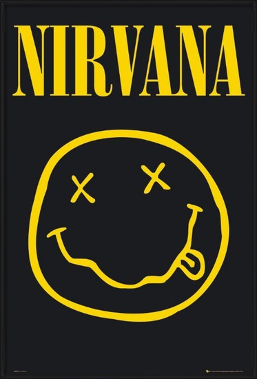 Nirvana – smiley Poster