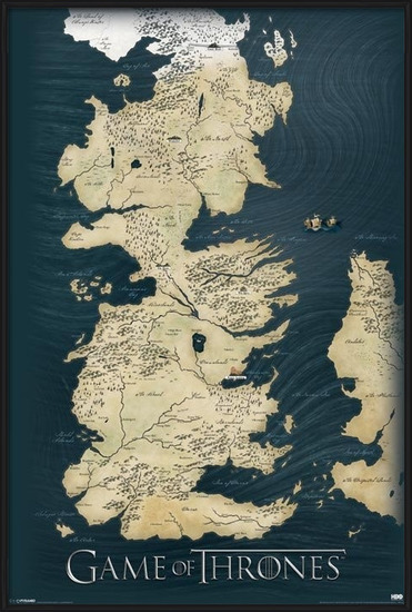 Game of Thrones - Map Poster