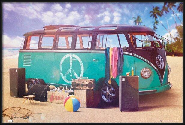 VW Volkswagen Camper - party Poster