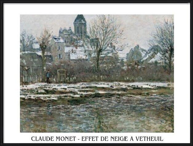 The Church at Vetheuil under Snow, 1878 Art Print