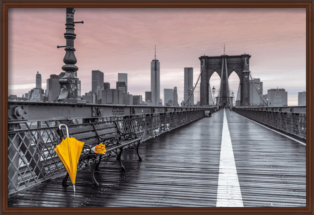 New York - Brooklyn bridge, Assaf Frank Poster