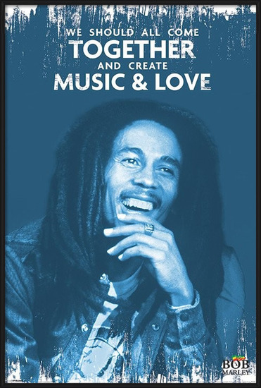 Bob Marley - Music and Love Poster