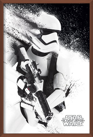 Star Wars Episode VII: The Force Awakens - Stormtrooper Paint Poster