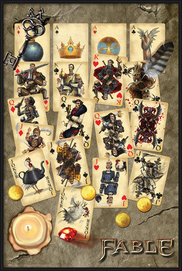 Fable - Playing Cards Poster