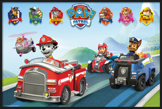 Paw Patrol - Vehicles Poster