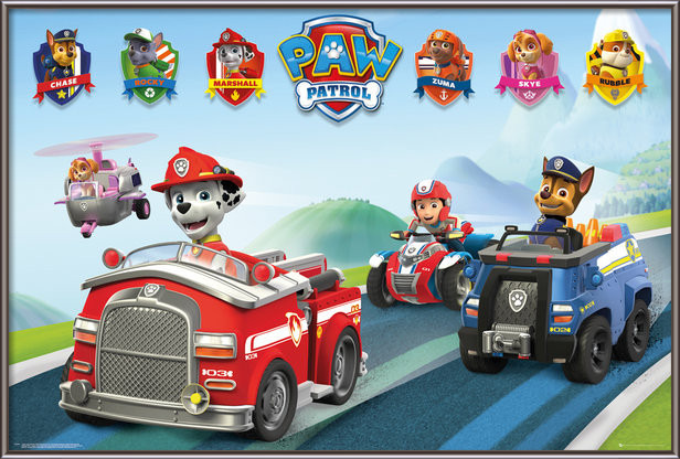 Paw Patrol - Vehicles Poster