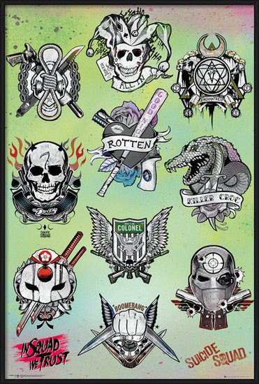Suicide Squad - Tattoo Parlor Poster