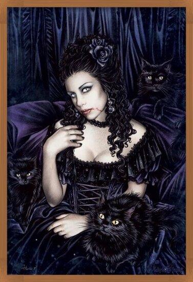 Victoria Frances - black cat Poster