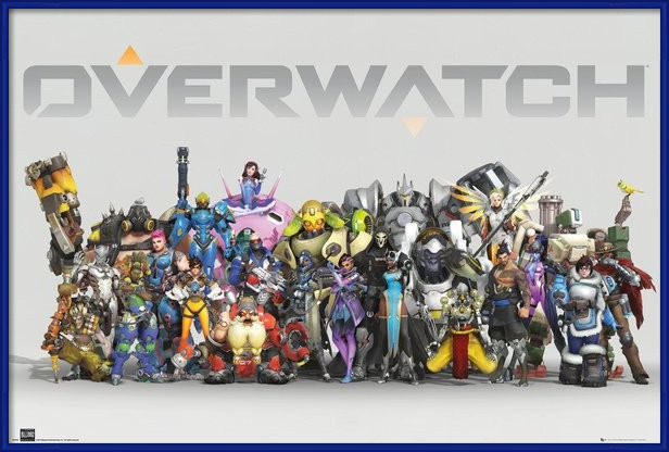 Overwatch - Anniversary Line Up Poster