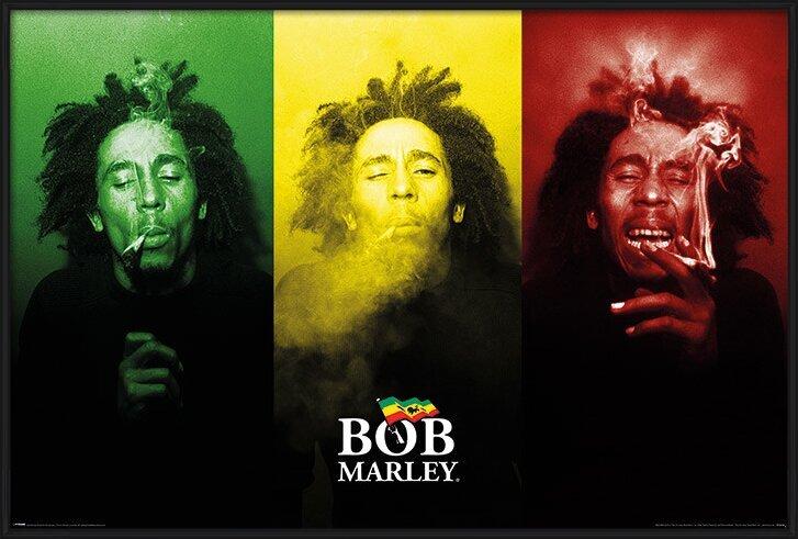 Bob Marley - Tricolour Smoke Poster