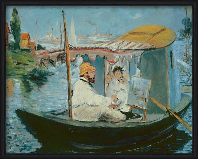 Fine Art Print Monet in his Floating Studio, 1874