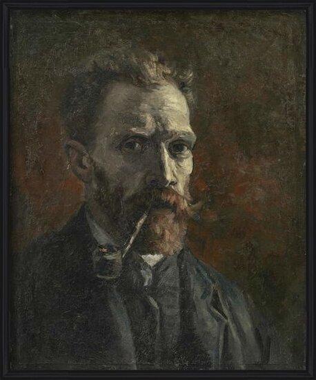 Fine Art Print Self-portrait with pipe, 1886