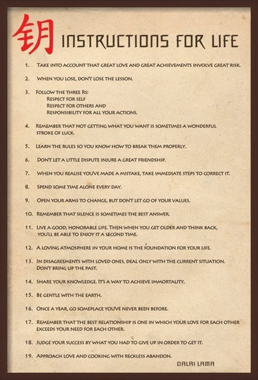 Instructions for live Poster