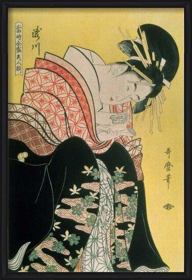 Fine Art Print Takigawa from the Tea-House, Ogi
