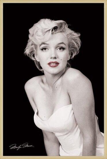 Marilyn Monroe - red lips Poster