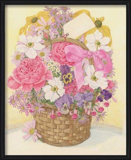 Fine Art Print Basket of Flowers, 1995
