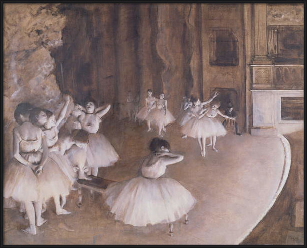 Fine Art Print Ballet Rehearsal on the Stage, 1874