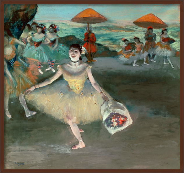 Fine Art Print Dancer with bouquet, curtseying, 1877