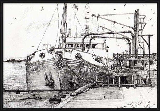 Fine Art Print  The Trinity port Ellen Isle of Islay, 2007,
