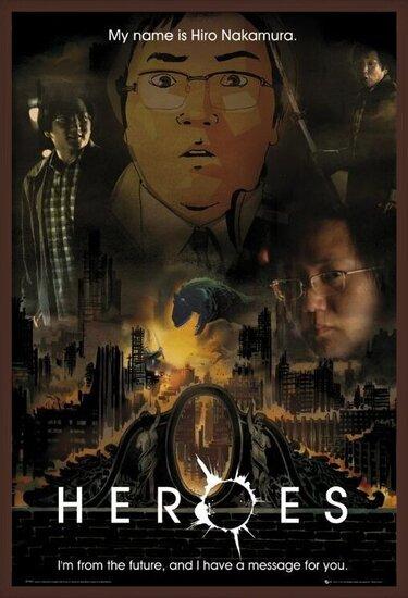 HEROES - message (hiro) Poster