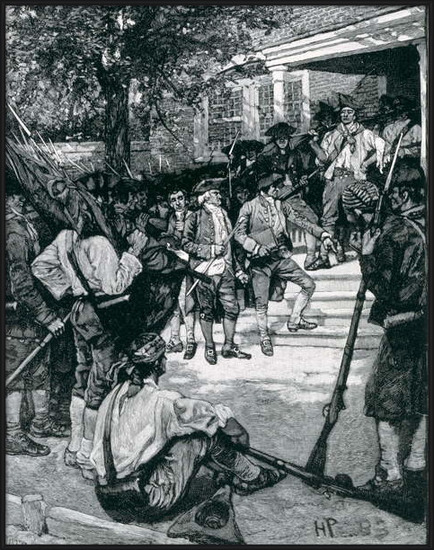 Fine Art Print Shays's Mob in Possession of a Courthouse, illustration from 'The Birth of a Nation' by Thomas Wentworth Higginson, pub. in Harper's Magazine, January 1884