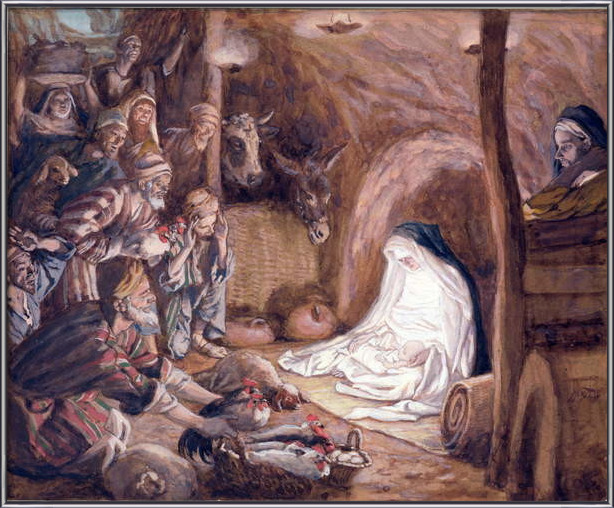Fine Art Print The Adoration of the Shepherds, illustration for 'The Life of Christ', c.1886-94