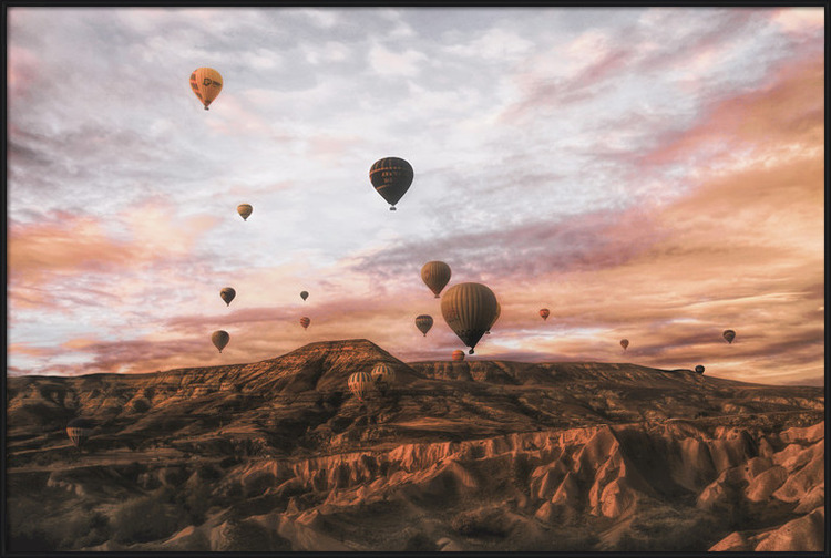 Art Print on Demand Cappodocia Hot Air Balloon