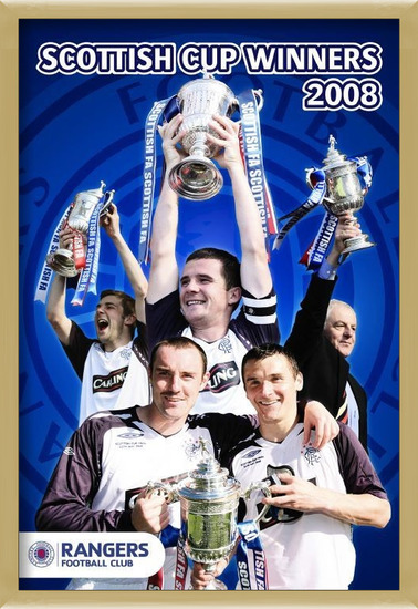 Rangers - cup winners 07/08 Poster