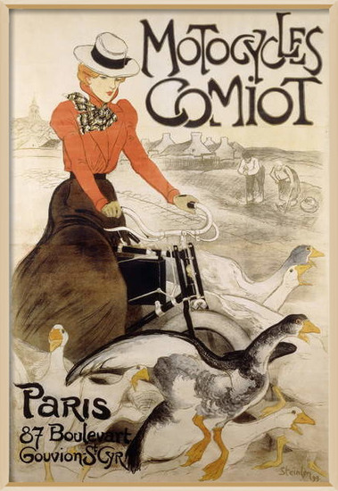 Fine Art Print An advertising poster for 'Motorcycles Comiot', 1899