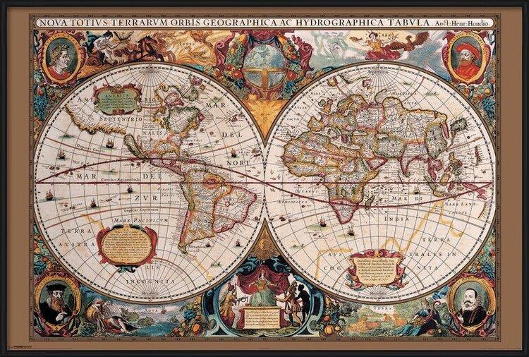 World Map - 17th Century Poster