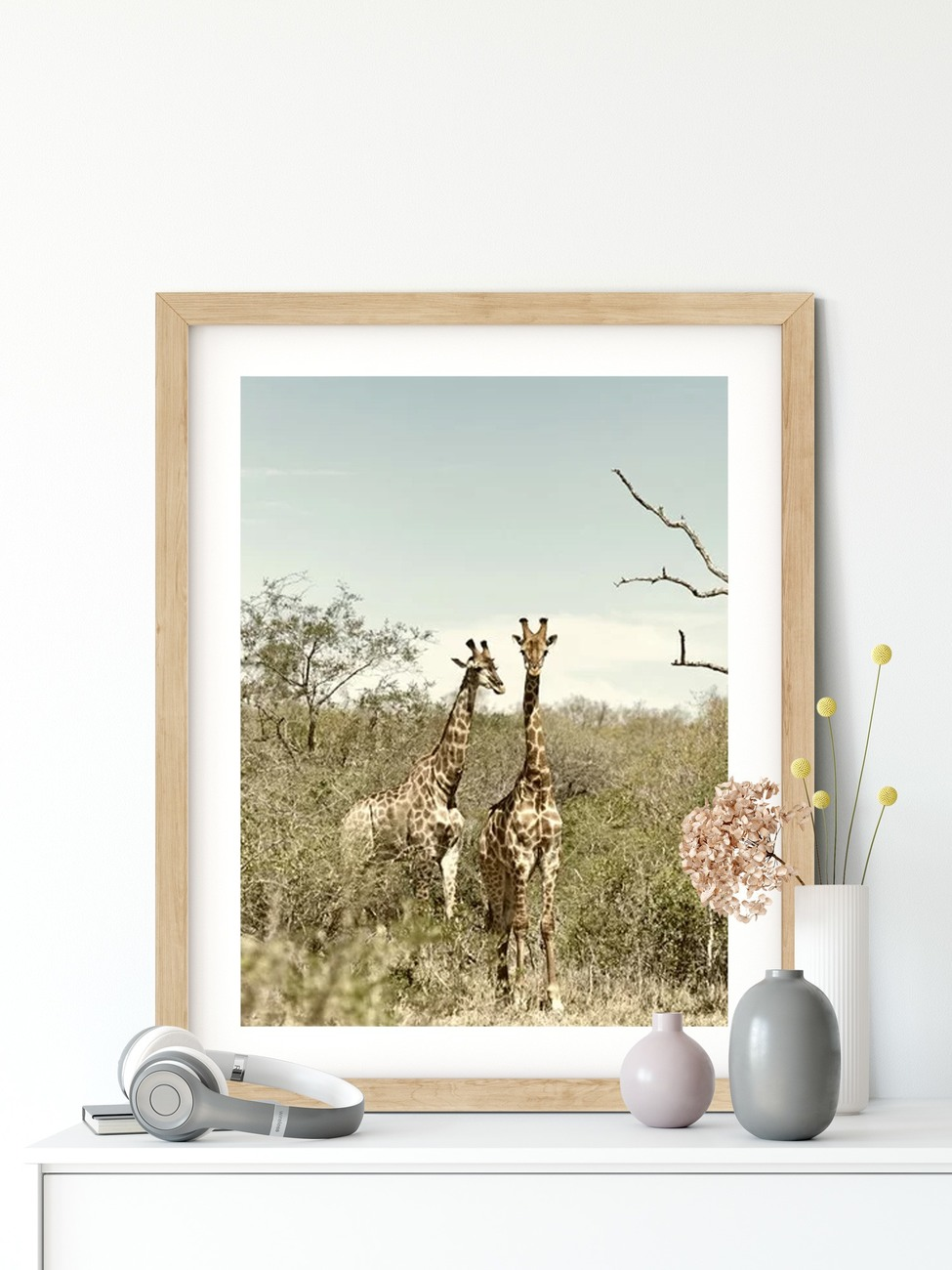 Art Print on Demand Acacia Tree in the African Savannah